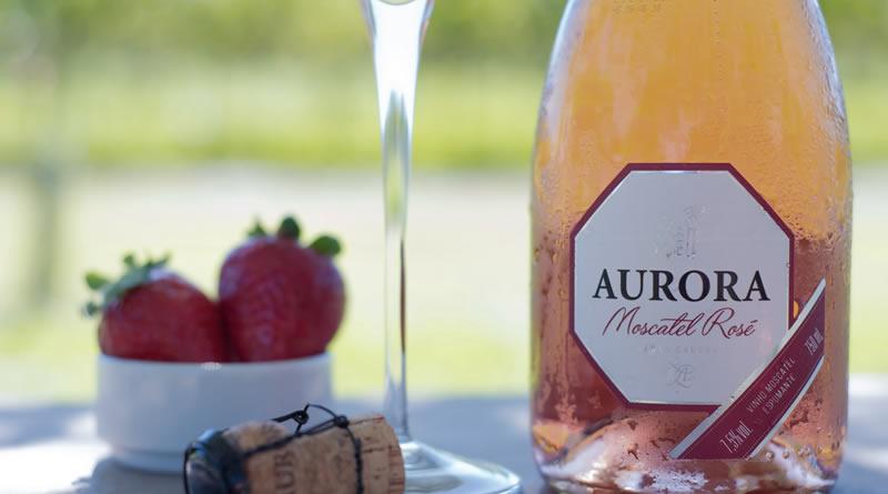Espumante Aurora Moscatel Rosé é ouro na França