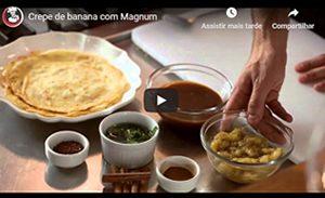 Crepe de banana com Magnum
