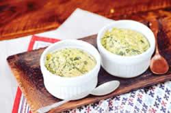 Receita de suflê de espinafre e queijo com farinha de aveia integral